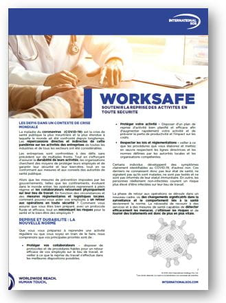Worksafe solution international sos reprise des activités COVID19